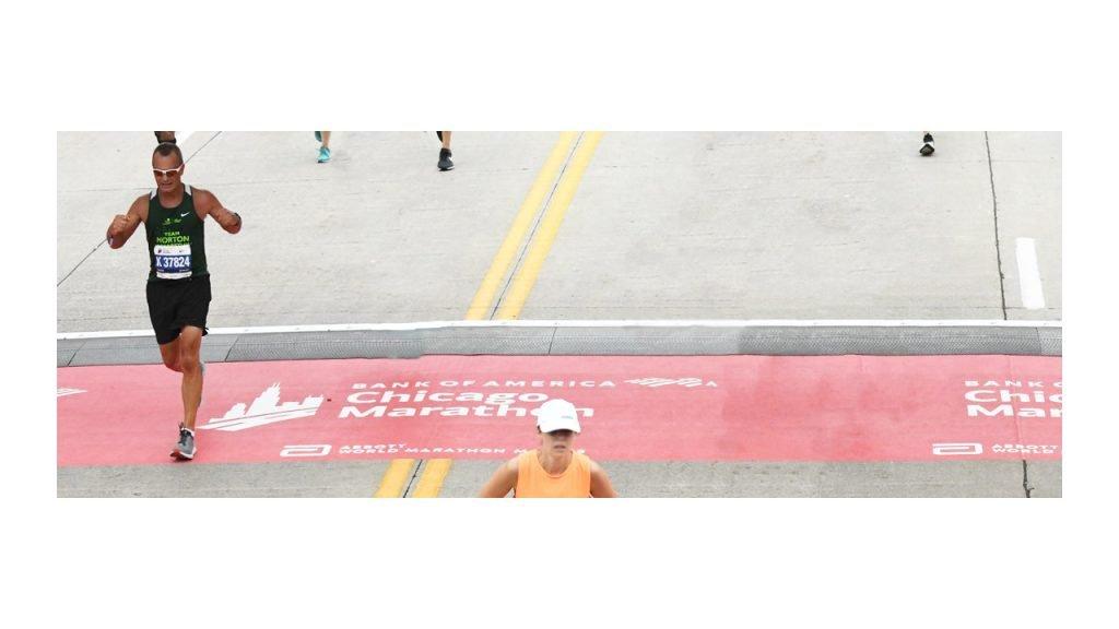 Finish line Chicago Marathon